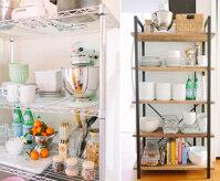 Nhà bếp sang trọng với kệ đựng sành điệu