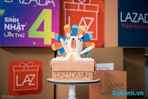 Nhân dịp sinh nhật 4 tuổi Lazada tung ra hàng loạt chương trình khuyến mãi lớn nhất năm