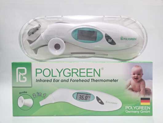Nhiệt kế điện tử Polygreen của nước nào sản xuất?