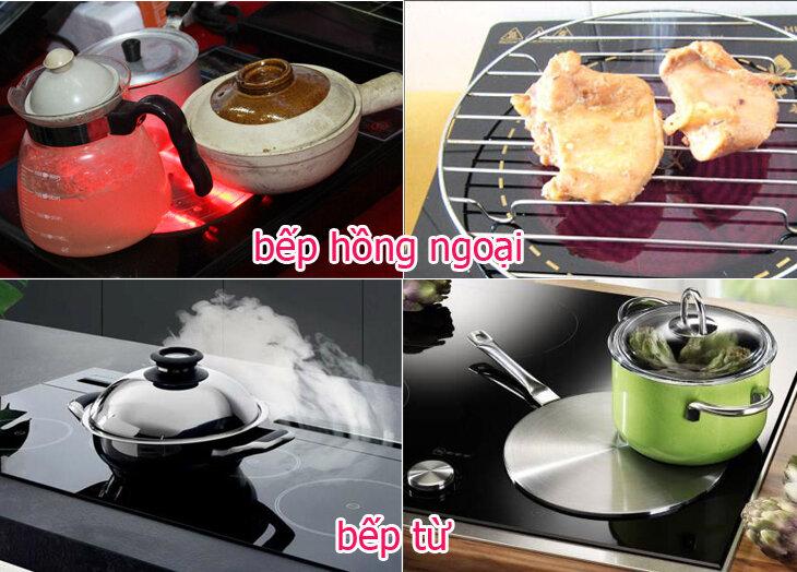 Những điểm khác nhau giữa bếp từ và bếp hồng ngoại