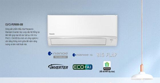 Những điều hòa Panasonic 12000btu inverter tiết kiệm điện cho năm 2020