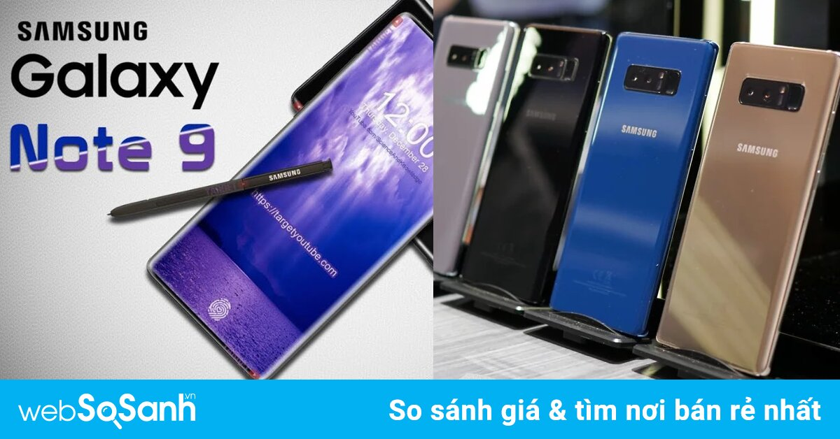 Những hình ảnh rò rỉ cho thấy những màu sắc rực rỡ trên Galaxy Note 9