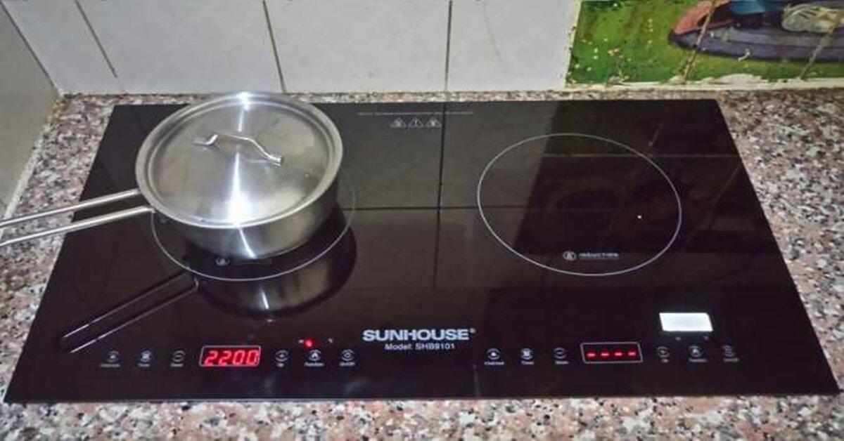 Những khác biệt về tính năng của bếp từ đôi Sunhouse giá rẻ và bếp từ Sunhouse cao cấp