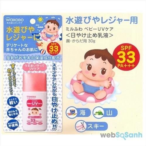 Những loại kem chống nắng trẻ em Nhật Bản phổ biến trên thị trường
