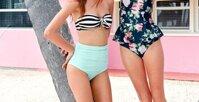 Những mẫu bikini cạp cao cho nàng có vòng 2 ngấn mỡ