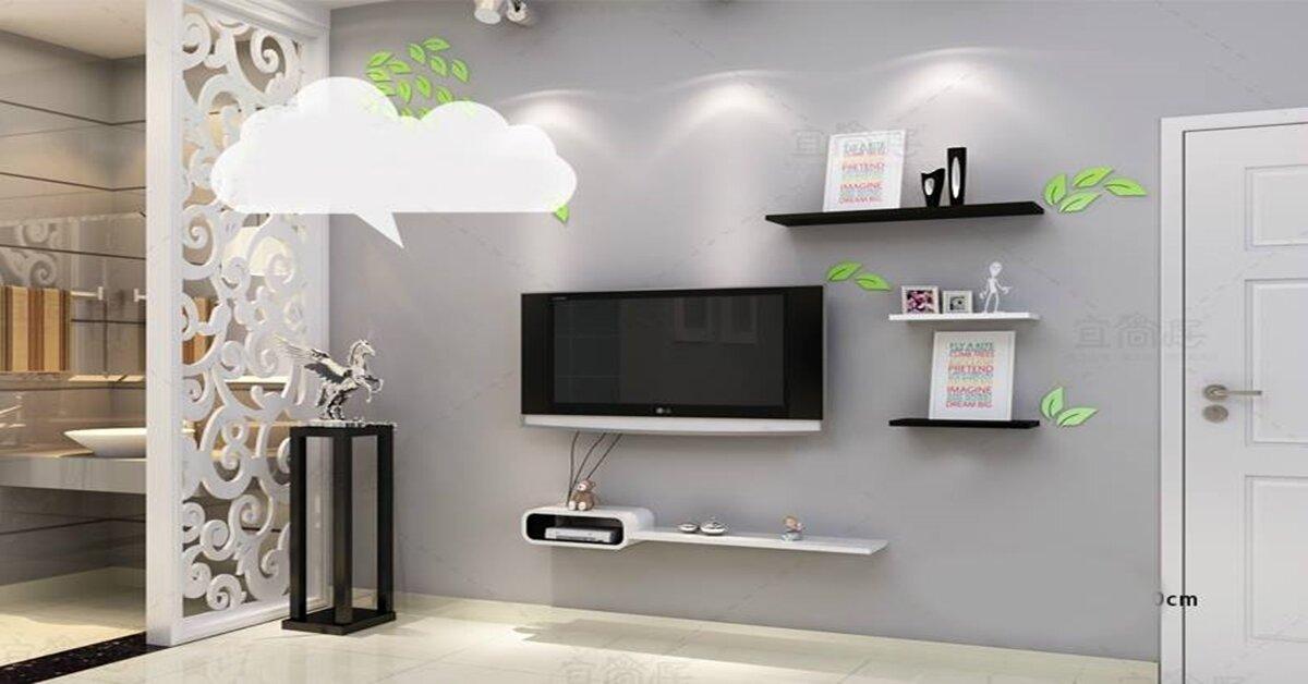 Những mẫu kệ tivi treo tường dành cho căn phòng nhỏ