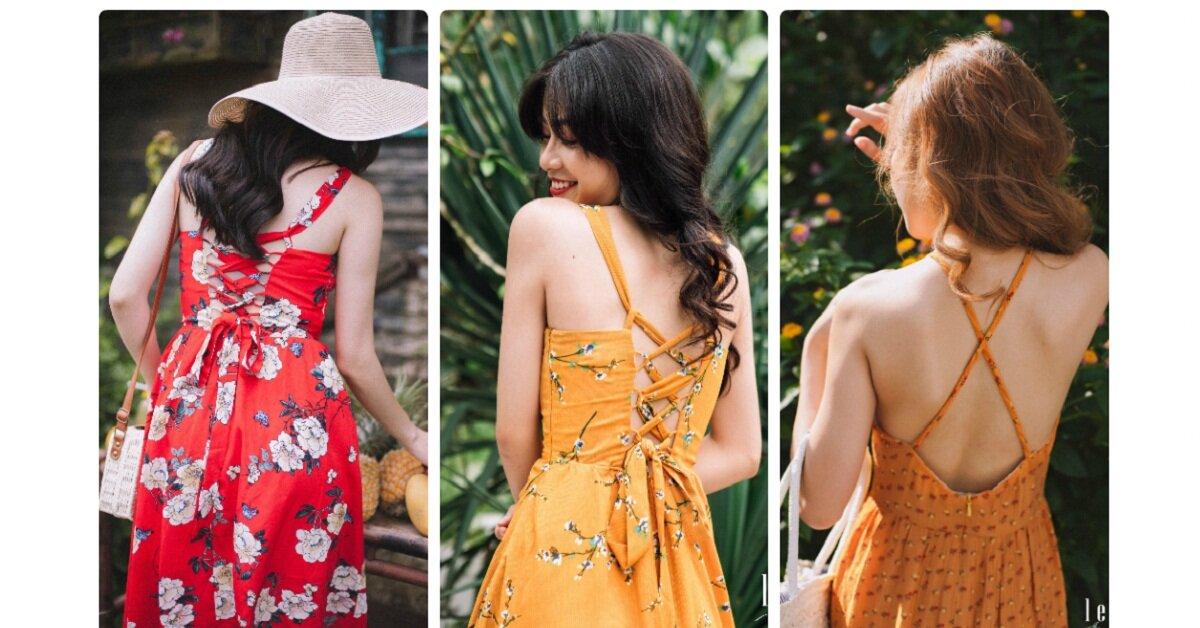 Những mẫu váy 'trước kín sau hở' cho bạn gái khoe khéo lưng xinh