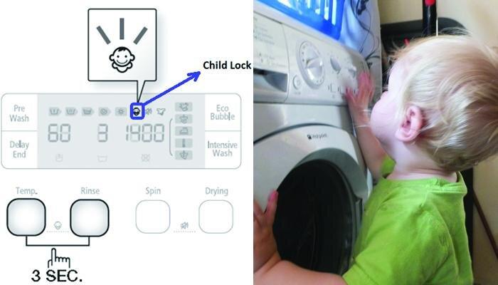 Những tiện ích trên máy giặt hỗ trợ đắc lực cho bà nội trợ chăm sóc gia đình