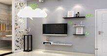 Những ý tưởng lựa chọn kệ tivi treo tường độc đáo, sang trọng cho phòng khách