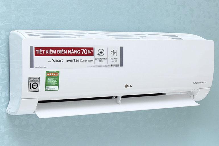 Điều hòa - Máy lạnh LG V13END 1 chiều 12000BTU inverter tiết kiệm điện hiệu quả lên đến 70% điện năng tiêu thụ hàng tháng