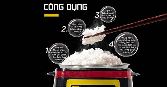 Nồi cơm điện tách đường hoạt động có hiệu quả không ?