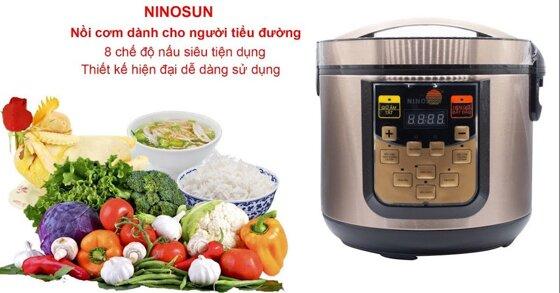 Nồi cơm điện tách đường Ninosun có nguyên lý hoạt động ra sao?