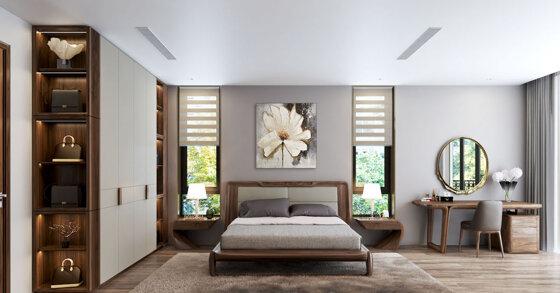 Nội thất phòng ngủ đẹp hiện đại có đặc điểm nổi bật gì?