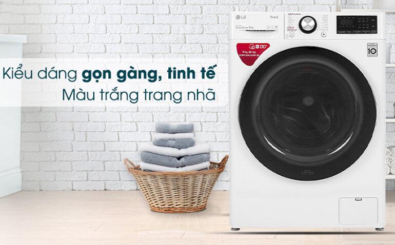 Máy giặt lồng ngang thông minh LG AI DD 9kg FV1409S2W thiết kế thanh lịch, nhỏ gọn hơn