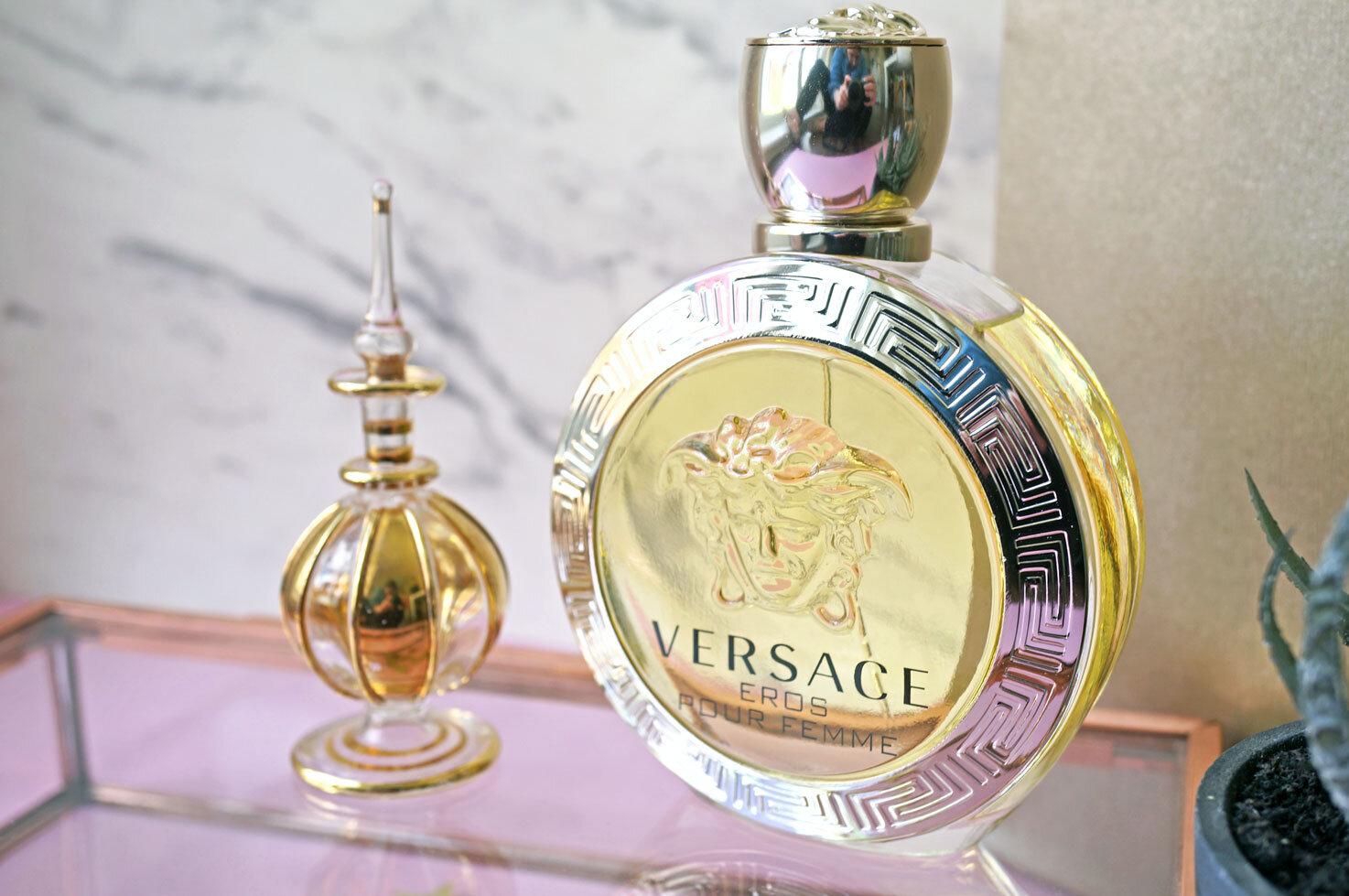 Nước hoa Versace Eros pour femme – hương hoa cỏ cho nàng thêm quyến rũ