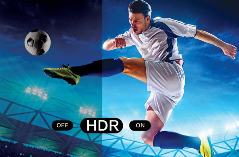 Công nghệ hình ảnh HDR và WCG+ cho hình ảnh sắc nét, sống động, thật như cuộc sống