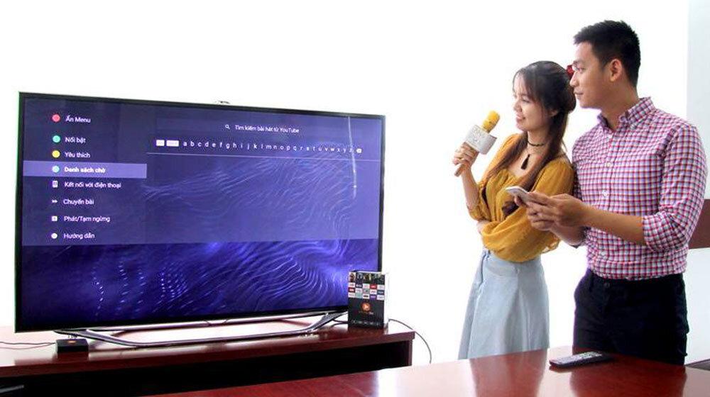 Hát karaoke thả ga trên Smart TV Samsung