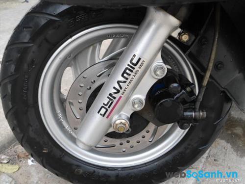 Bánh xe có lốp kích thước 10 inch