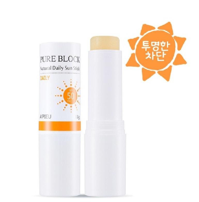 Kem chống nắng thỏi Apieu Pure Block Natural Daily Sun Stick SPF 50
