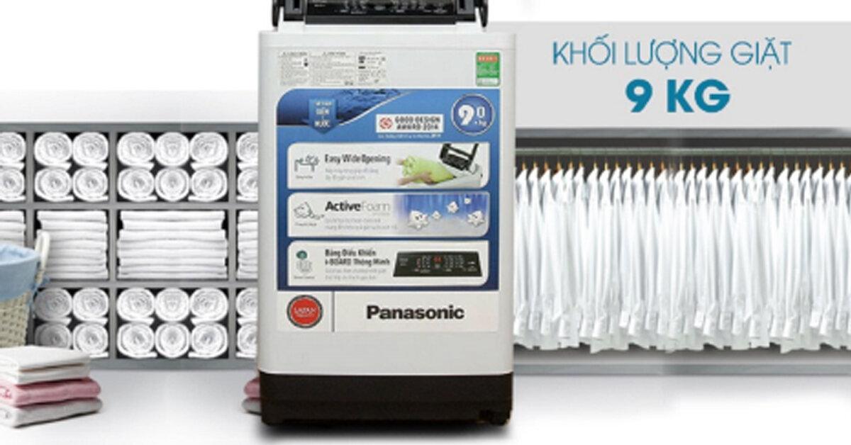 Ở đâu bán máy giặt Panasonic 9kg rẻ hơn : Điện máy xanh hay Lazada ?