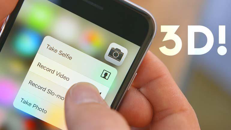 Tính năng 3D Touch trên iPhone