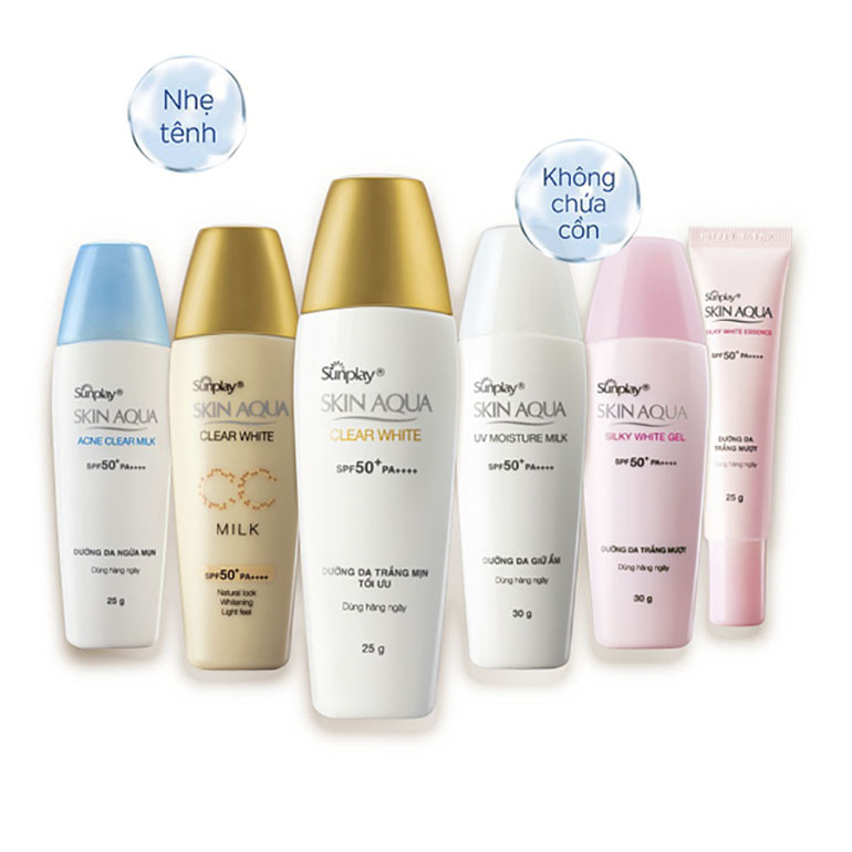 Kem chống nắng Sunplay SkinAqua Clear White SPF 50+