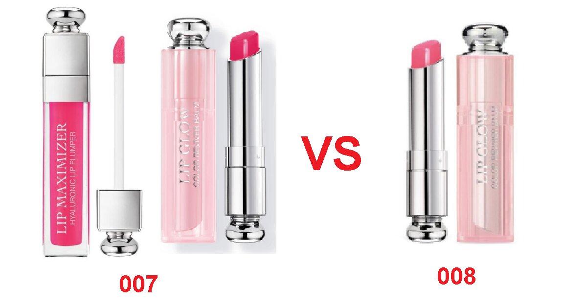 Nên chọn mua son dưỡng Dior 007 hay 008 thì đẹp hơn?