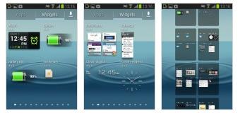 Danh sách widget của Samsung Galaxy Young S6310.