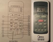Hướng dẫn sử dụng remote điều khiển điều hòa Midea