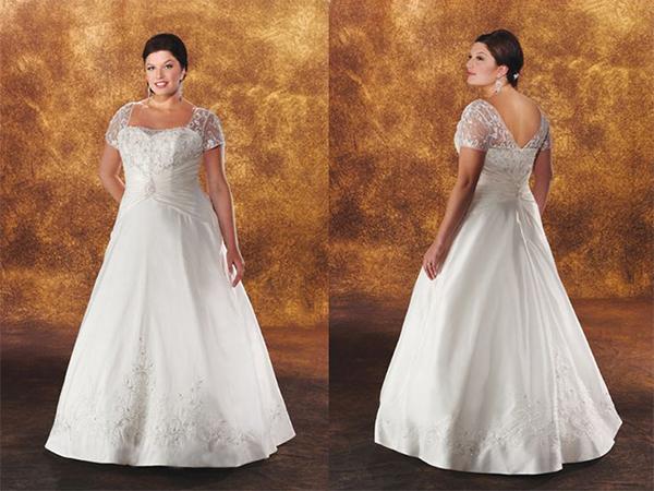 Váy cưới cho các cô dâu có dáng người mập mạp nên đơn giản, gọn nhẹ