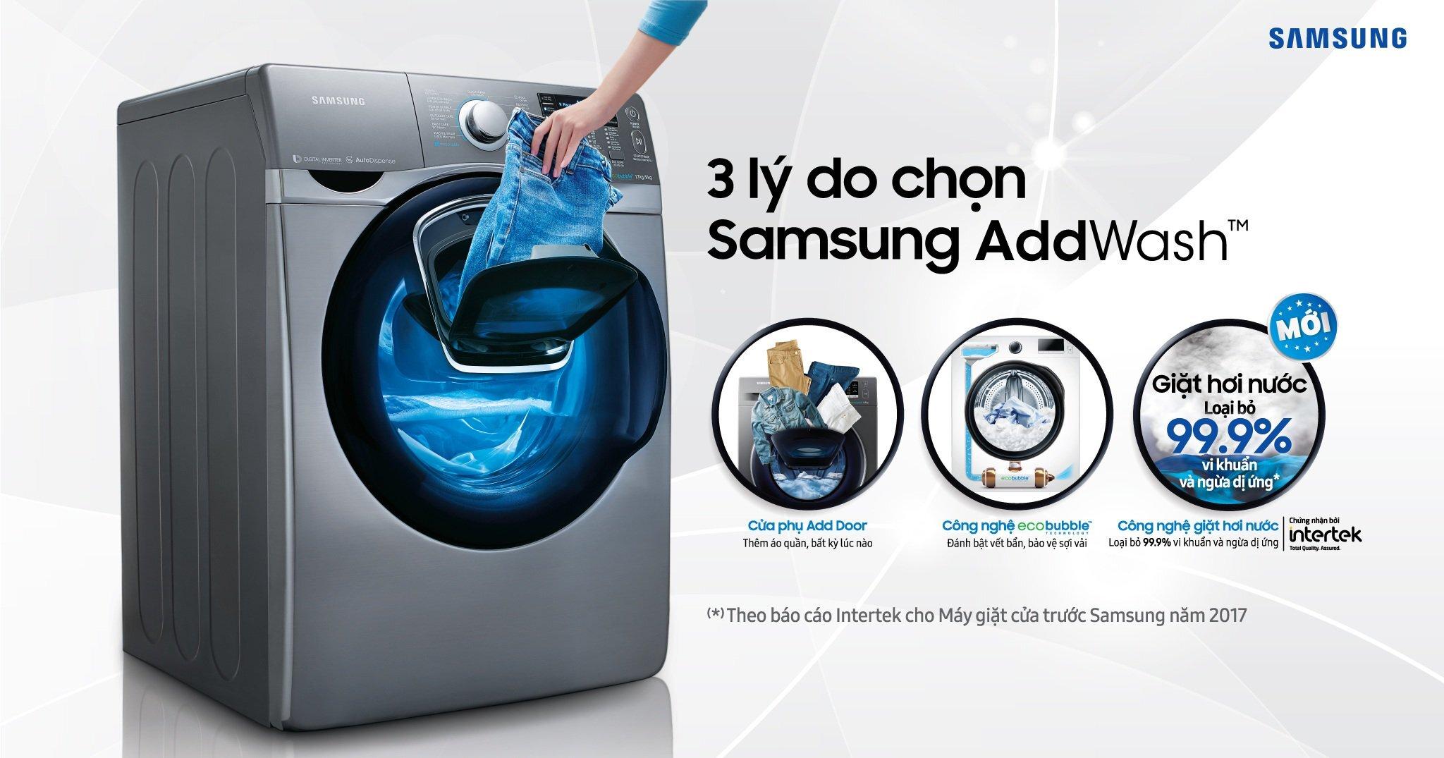 Máy giặt cửa trước có nhiều công nghệ giặt vượt trội