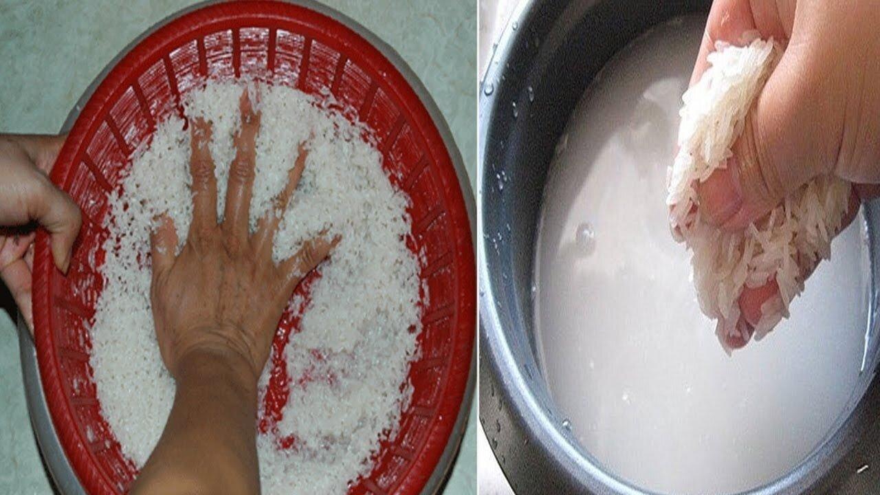Vo gạo trực tiếp bằng lòng nồi cơm điện sẽ làm mòn lớp chống dính