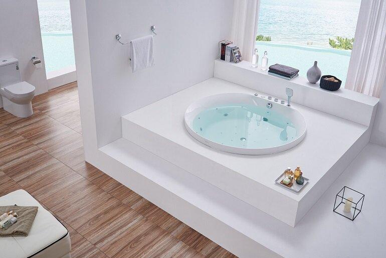 Bồn tắm mini có kích thước nhỏ thích hợp cho nhiều không gian