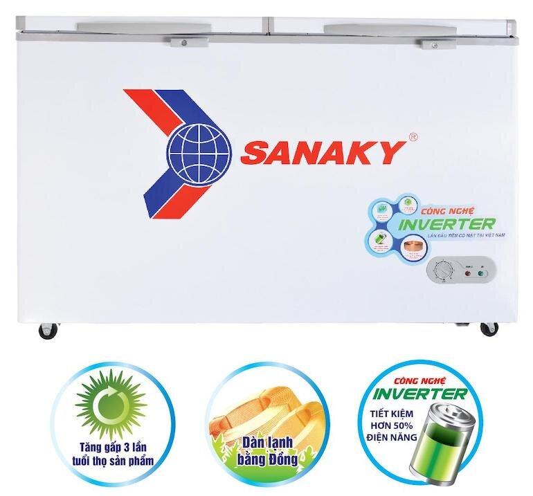 Tủ đông 1 ngăn 2 cánh Inverter Sanaky VH-2599A3