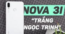 Điện thoại Huawei Nova 3i phiên bản màu trắng ngọc trai: Thiết kế trang nhã, tinh tế, giá rẻ 6,9 triệu đồng