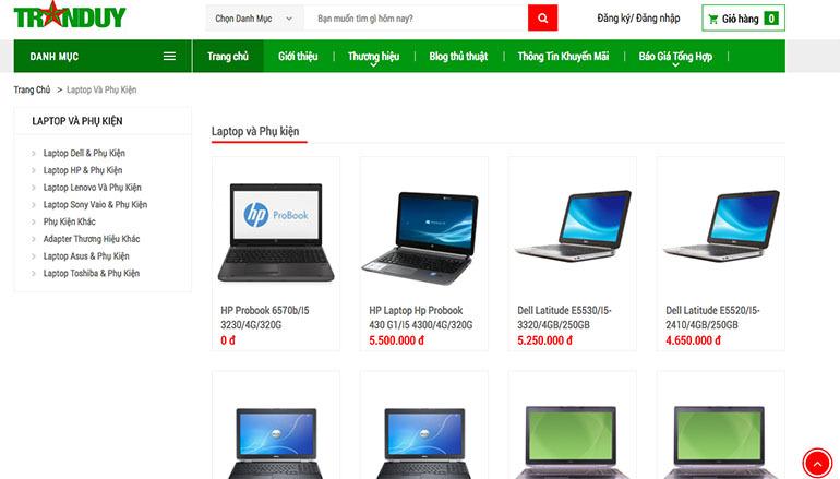 Tranduy.vn – Nơi cung cấp máy tính đồng bộ renew, Laptop nhập khẩu giá cạnh tranh nhất