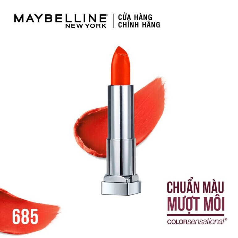 Son môi đỏ cam Maybelline Creamy Matte