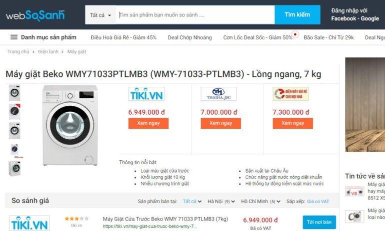 Giá máy giặt Beko bao nhiêu tiền ?