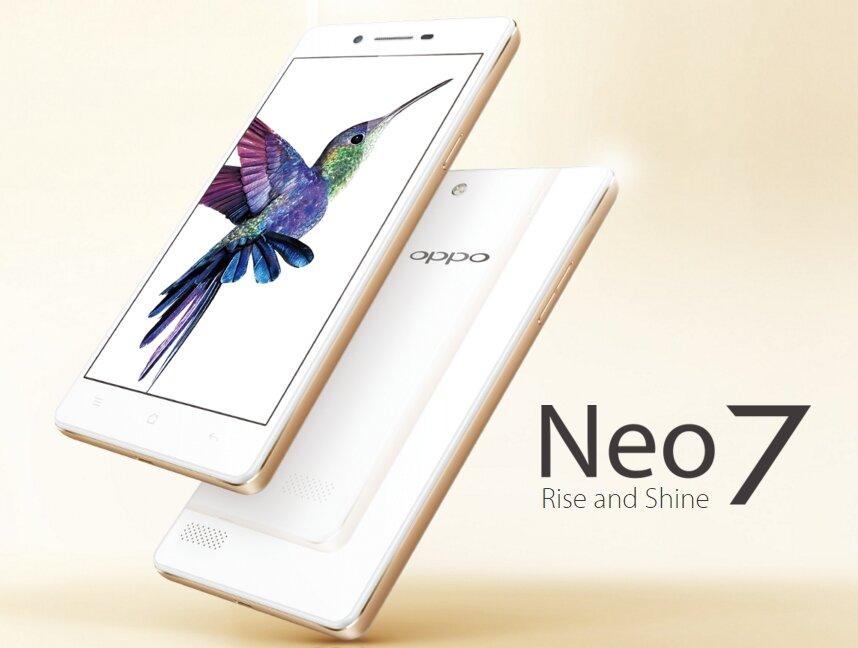 OPPO Neo 7 sở hữu màn hình 5.5 inch, chip lõi tứ 64 bit