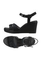 Giày đế xuồng thời trang nữ Crocs Leigh Sandal Wedge W Đen Đen (Đen)