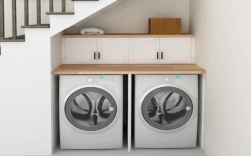 Có nên bố trí máy giặt ở phòng tắm