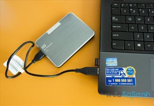 Khả năng kết nối cổng USB 3.0 cho phép truyền dữ liệu nhanh chóng