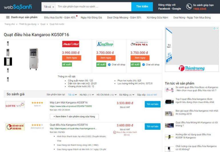 So sánh giá quạt điều hòa trước khi mua để tiết kiệm thời gian và chi phí