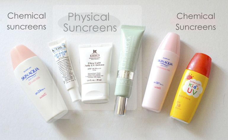 Kem chống nắng vật lý và hoá học loại nào tốt cho da nhạy cảm ?