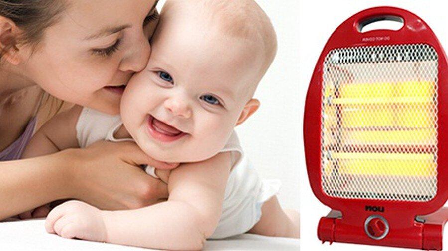 Nhiều người vẫn băn khoăn quạt sưởi có tốt cho trẻ sơ sinh không?