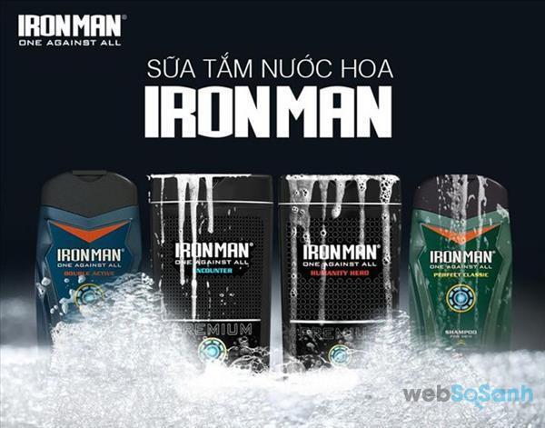 Sữa tắm Ironman có tốt không? có mấy loại? giá sữa tắm ironman?