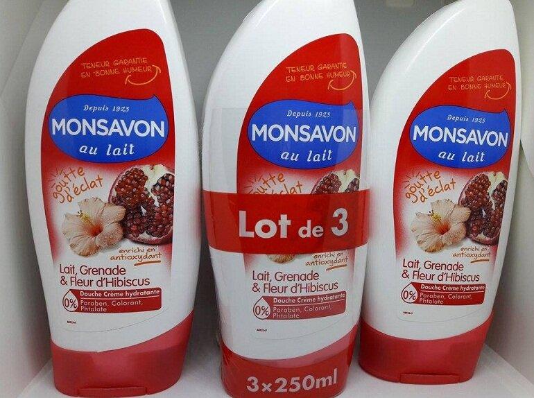 Sữa tắm Monsavon nội địa Pháp có mấy loại?