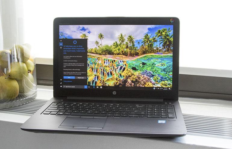 Laptop HPZBook 15 thiết kế sang trọng, màn hình rộng giúp bạn thoả thích lướt web, xem phim, nghe nhạc và chơi game cực đã