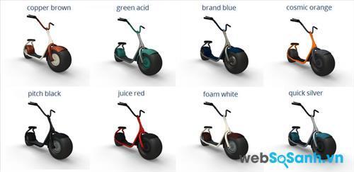 Scooser có tới 8 màu sắc cho bạn lựa chọn