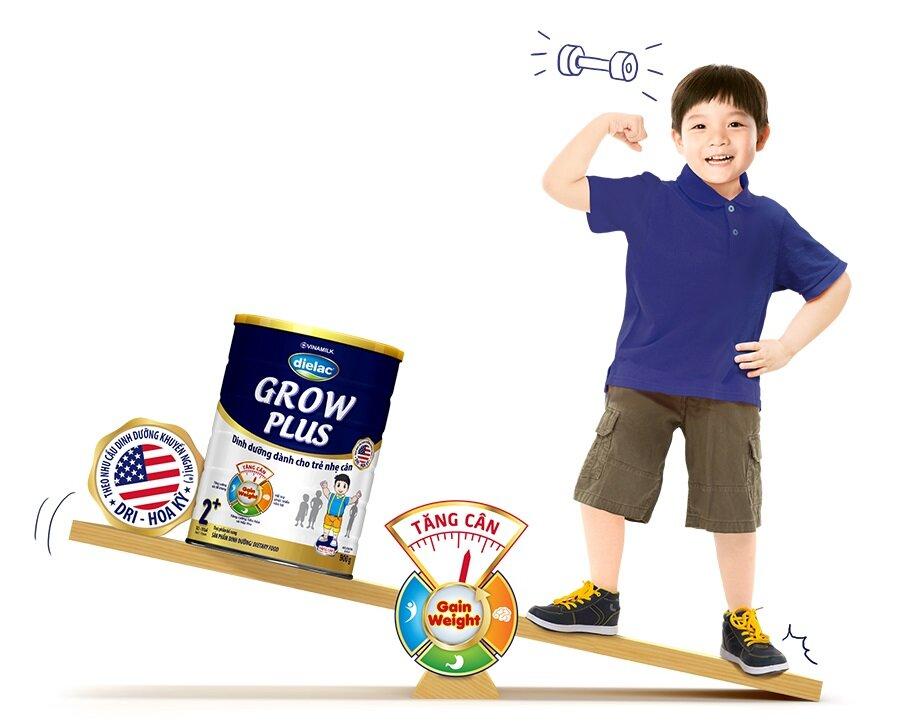 Sữa Dielac Grow Plus 1+ cho trẻ thấp còi